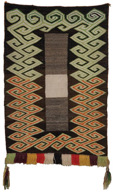 Navajo Fancy Double Saddle Blanket