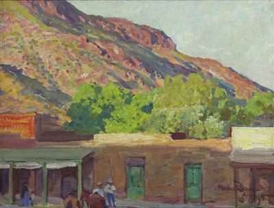 Dobe Town, Tempe, Arizona 1915  14 x 18