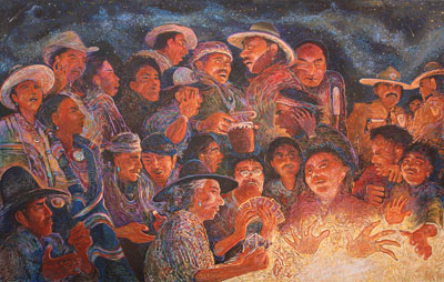 Shonto Begay    Second Night Glow     Acrylic on Canvas     52 x 80