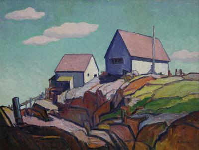 Emil James Bisttram (1895-1976)    Top of the Hill