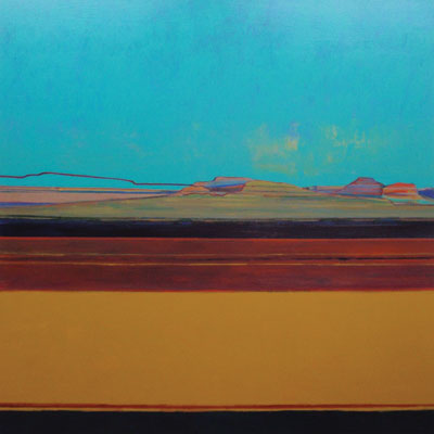 Mark Bowles    Vanishing Ridge    Acrylic on Canvas    60 x 60