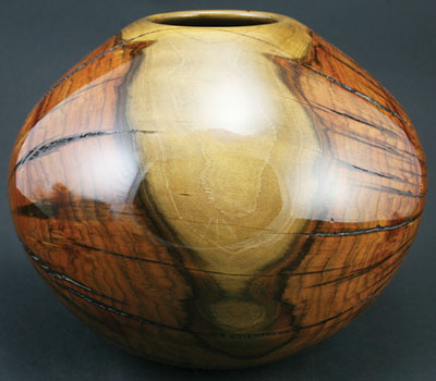 Greg Campbell    Chinese Pistache    8.75 x 10.25    Turned Wooden Bowl
