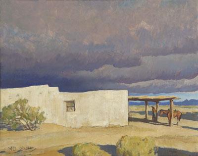 December Sky, Tucson 1940  16 x 20