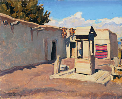 Old Patio, September 1931   Oil on canvas board   16 x 20