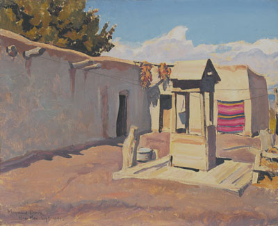 "Old Patio    Signed ""New Mex Sept. 1931""    Oil on Canvas Board   16 x 20"