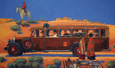 Dennis Ziemienski     Harvey Car    Oil on Linen     24 x 40