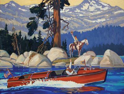 Dennis Ziemienski     Tahoe Boat     Oil on Linen     32 x 42