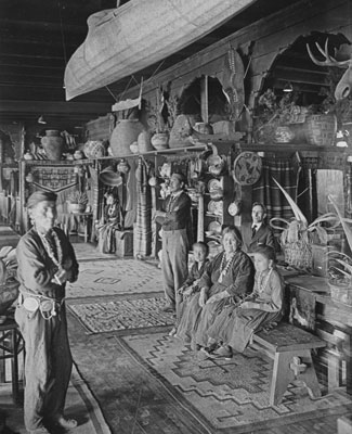 Indian Room, Alvarado Hotel, Albuquerque, NM, c. 1905
