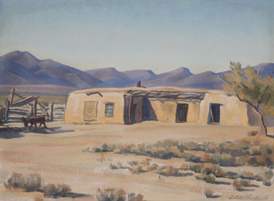 Edith Hamlin (1902-1992)     Rancho Viejo, Tucson, Arizona