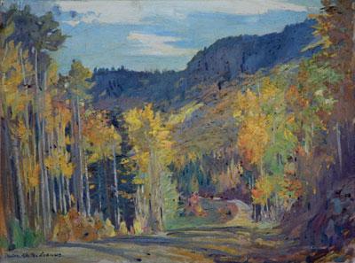 Odon Hullenkremer (1888-1978)    Autumn, North of Santa Fe      fig. 55