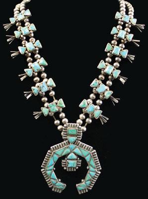 Della Casa Appa   Zuni Squash Blossom Necklace   c. 1930
