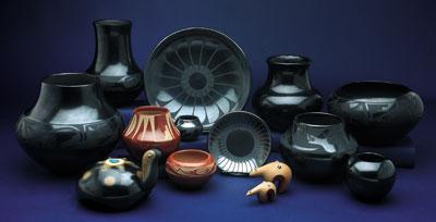 Maria Martinez and Family pottery   Courtesy Medicine Man Gallery