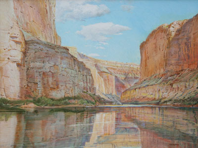 Merrill Mahaffey     Saddle Canyon Afternoon     Acrylic on Canvas     30 x 40