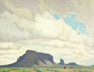 Navajo Sky Oil on canvas  22 x 28