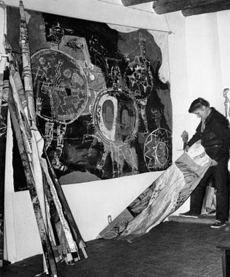 Agnes Sims in her studio