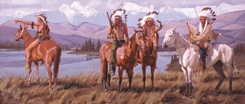 Fred Fellows, CA   In the Country of the Flathead   Oil on linen   30 x 70