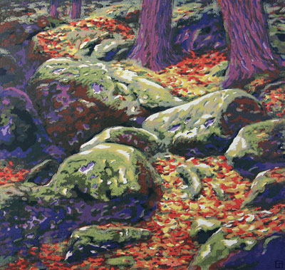 Brad Tear   Rocks and Moss