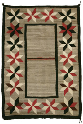 Navajo Double Saddle Blanket with Valero Stars