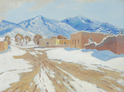 Sheldon Parsons (1866-1943)    Winter Mountain Adobe