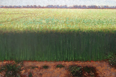 Gary Ernest Smith    New Wheat    Oil on Canvas    16 x 24