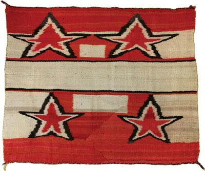 Navajo Singe Saddle Blanket ith Stars