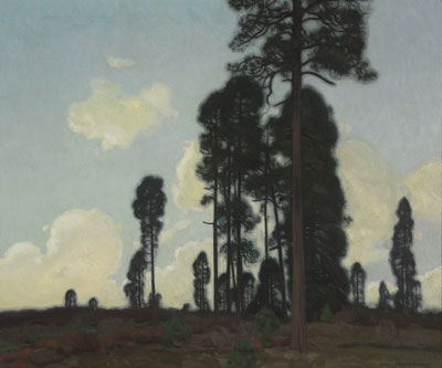 E. Martin Hennings (1886-1956)   Towering Pine, 1915   Oil on canvas   26 x 30