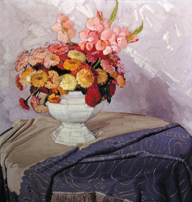 Victor Higgins (1884-1949)   Zinnias, 1922-23