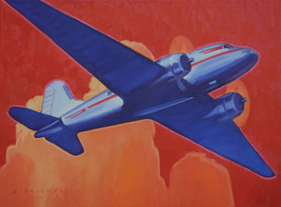 Dennis Ziemienski     DC3     Oil on Canvas     18 x 24