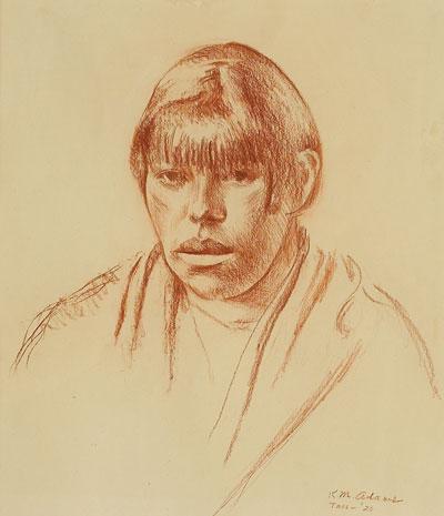 Kenneth Miller Adams (1897-1966)    Taos Woman - 1926