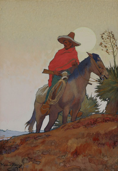 Maynard Dixon (1875-1946) The Insurrecto, Gouache, c.1916, 17.75 x 12.25