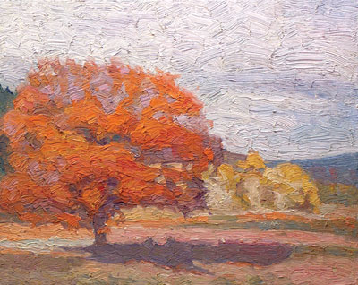 Ron Elstad   A Lustrous Presence Amidst Fall's Passing   Oil on Canvas   16 x 20