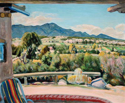 Joseph Fleck (1892-1977) The Ranchos Valley, Oil on Panel, 25.25 x 30