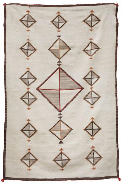 Navajo Crystal Rug   c. 1900-10   88 x 56