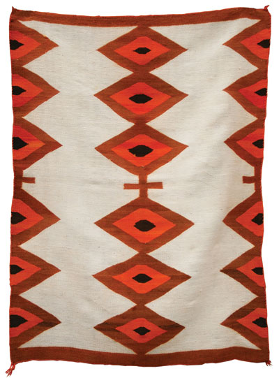 Navajo Transitional Blanket   c. 1890   65 x 46