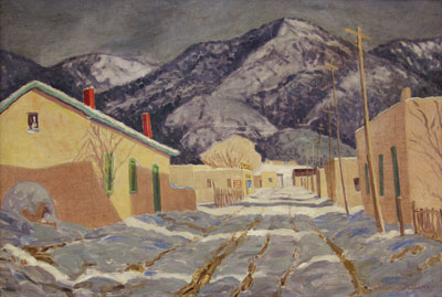 Sheldon Parsons (1866-1943)   Winter Afternoon, Canyon Road   circa 1943