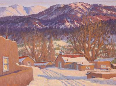 Carl von Hassler (1887-1969)    Setting Sun Glow - Valley of Questa, NM