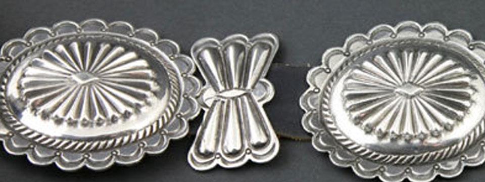 Navajo and Pueblo Indian silver jewelry