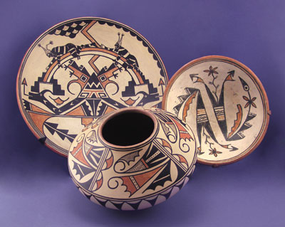 Maria and Julian Martinez polychrome pottery
