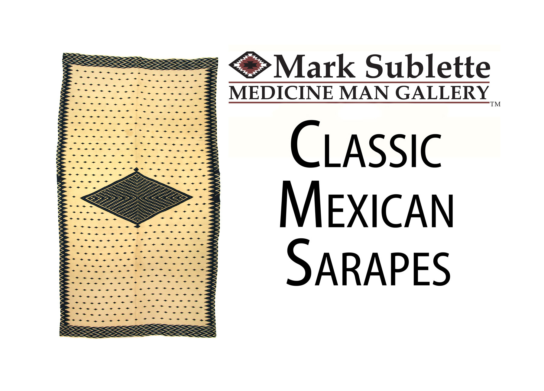 How to Identify and date Classic Mexican Saltillo Serape Blankets
