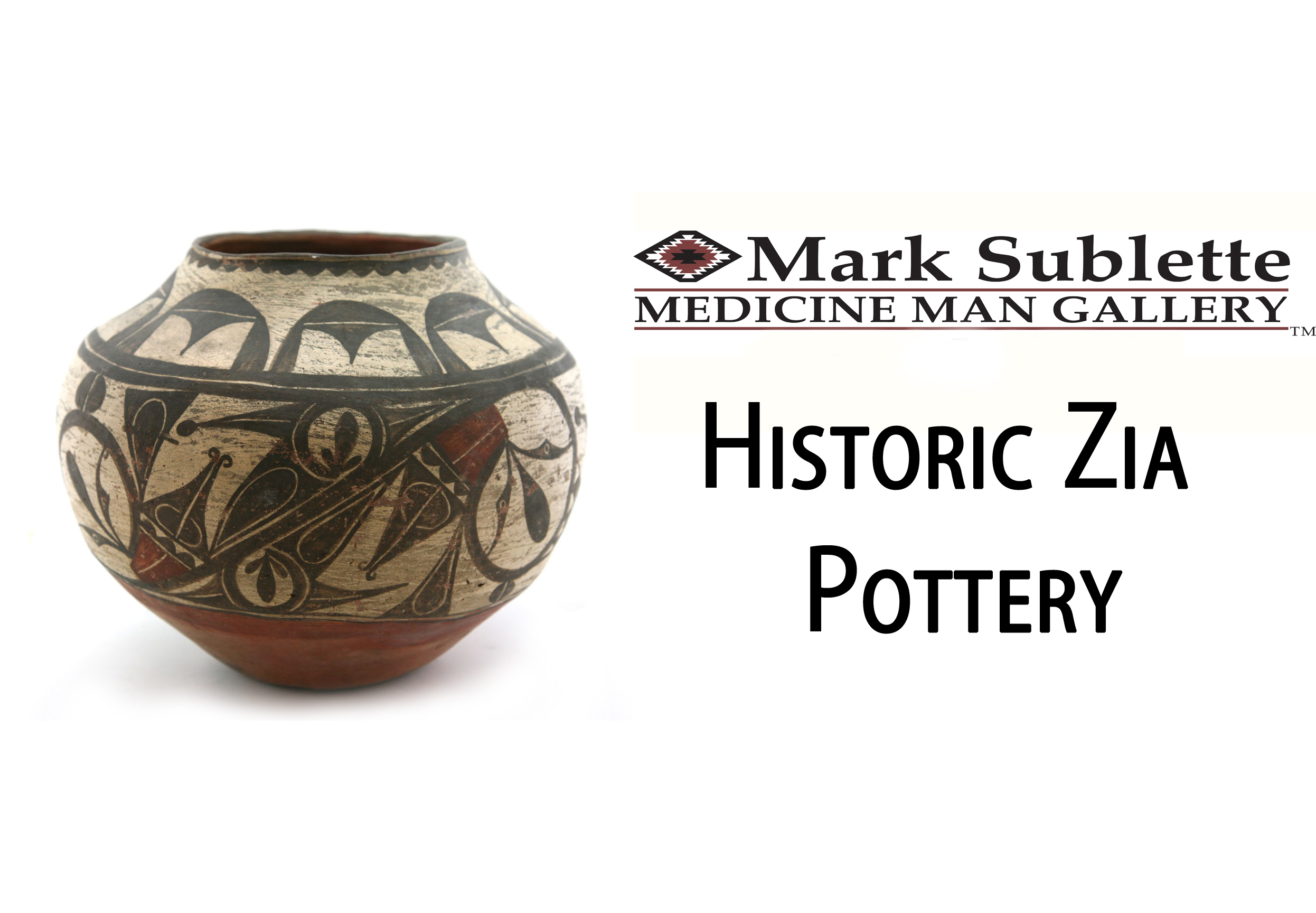 Native American Pottery – How to identify and price early historic Zia and Acoma pottery