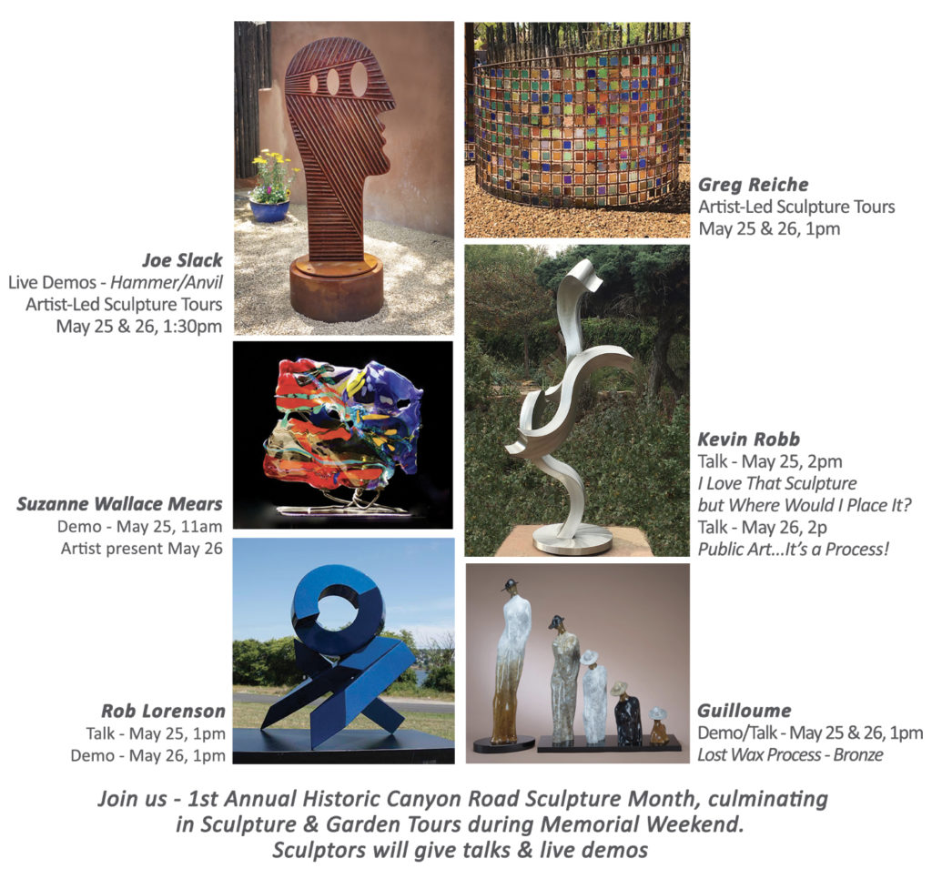 Canyon Road Sculpture Month & Garden Tour @ Pippin Contemporary
